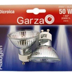 Garza lighting, blister de 2 bombillas reflect gu10 50w 230v 300 lúmenes 2800 k