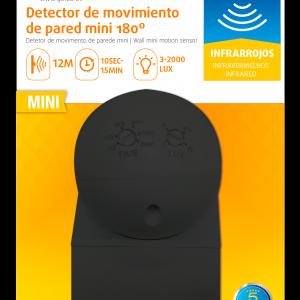 Garza power - detector de movimiento infrarrojos mini de pared, uso exterior, ángulo de detección 1