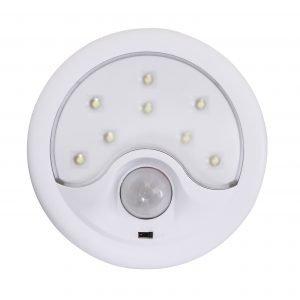 Garza power - detector de movimiento infrarrojos con luz led quitamiedos, portátil, ángulo de detec