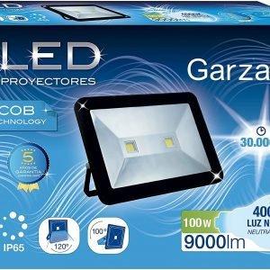 Garza lighting outdoor, foco proyector led exterior ip65 cob, 100w, 120º, 9000 lúmenes, 4000k, luz