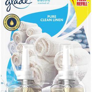 Glade de sc johnson, pack 2 recambios ambientador eléctrico líquido aceites esenciales, aroma fresc