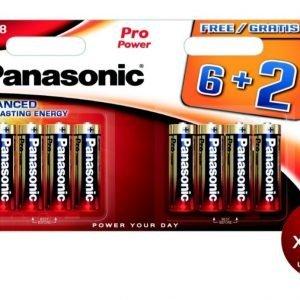 Panasonic, blister de 8 pilas alcalinas panasonic pro power aa lr06 1,5 v. pack de 3 blisters