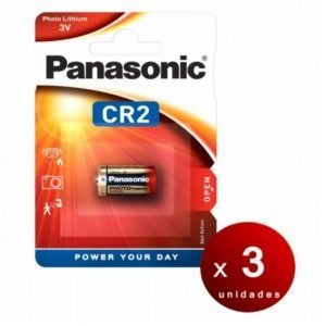 Panasonic, blister de 1 pila litio 3v cr-2l/cr2 li-ion, 850 mah. pack de 3 blisters