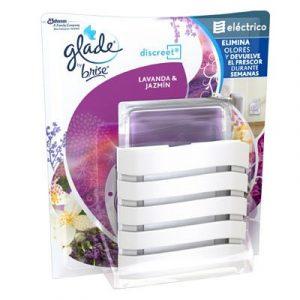Glade by brise discreet ambientador eléctrico lavanda jazmín de sc johnson, aparato + recambio