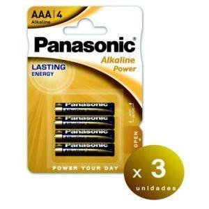 Panasonic blister 4 pilas alcalinas panasonic alkaline power aaa lr03 1,5 v. pack de 3 blisters