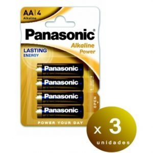 Panasonic blister de 4 pilas alcalinas panasonic alkaline power aa lr06 1,5 v. pack de 3 blisters