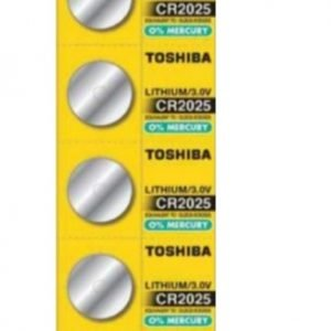 Panasonic, pack de 5 pilas / baterías de litio original toshiba cr2025 160mah. pack de 3 blisters,