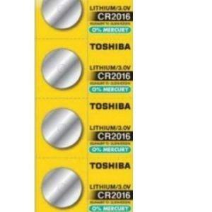 Panasonic, pack de 5 pilas / baterías de litio original toshiba cr2016 90mah. pack de 3 blisters, t