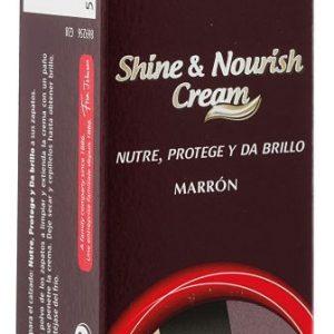Tubo kiwi shine & nourish de crema marrón para el cuidado del calzado, sin aplicador