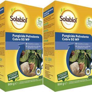 Sbm solabiol, fungicida polivalente cobre ecológico para plantas 100% orgánico, acción curativa 500