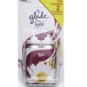 Recambio 2 unidades relax zen para glade sense & spray de sc johnson, ambientador automático