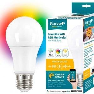 Garza smarthome - bombilla led multicolor wifi rgb alexa, 9 w, 650 lúmenes