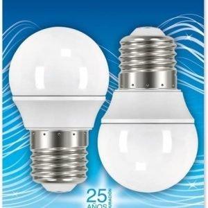 Garza lighting, pack de 2 bombillas led esféricas, e27, 3.5w, 250 lúmenes, 2700k, luz cálida