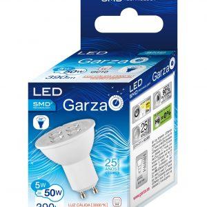 Garza lighting, bombilla led smd gu10 5w luz fría 350 lúmenes