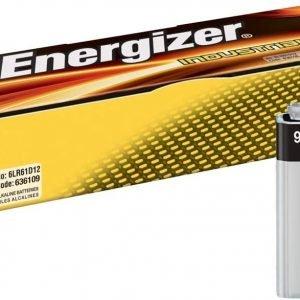 Energizer alkaline industrial, pack de 12 pilas alcalinas 9 voltios