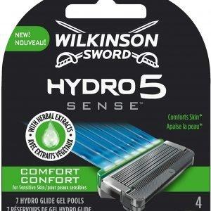 Pack 4 unidades wilkinson sword hydro 5 sense comfort - recambio cuchillas 5 hojas ultradeslizantes