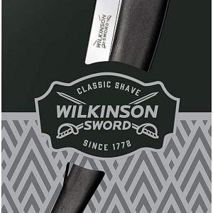 Pack wilkinson sword classic cutthroat, navaja clásica barbero + 5 hojas, afeitado manual profesion