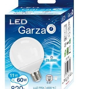 Garza lighting, bombilla led globo g95, 9.5w, e27, 220º, 806 lúmenes, luz fría