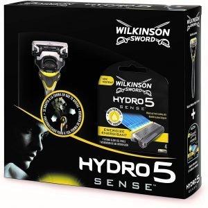 Pack wilkinson sword hydro 5 sense - máquina afeitar recargable de 5 hojas con gel hidratante + 4 c
