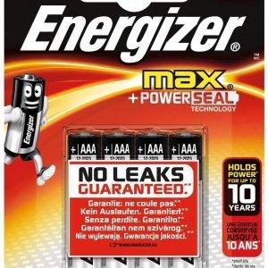 Energizer max power seal pilas alcalinas aa, lr6, pack de 4 unidades
