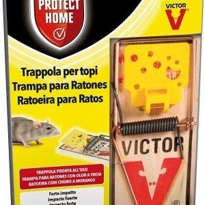 Protect home, control de roedores, trampa para ratas grandes, madera y acero, higiénica
