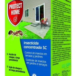 Protect home, insecticida concentrado sc control hormigas y rastreros en exteriores, acción de choq