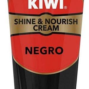Tubo kiwi shine & nourish crema color negro para el cuidado del calzado, sin aplicador