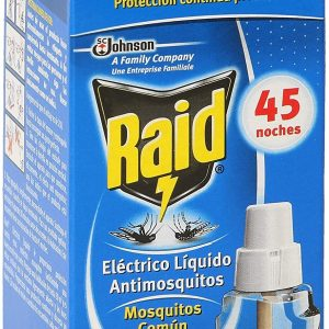 Raid de sc johnson, recambio para difusor eléctrico anti mosquitos comunes y tigre, 45 noches