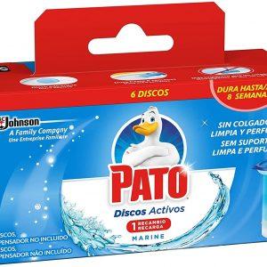 Pato wc de sc johnson, discos activos recambio limpiador automático para inodoro aroma marine, 150
