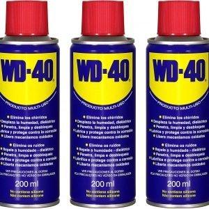 Wd-40, pack de 3 unidades de lubricante multiusos  200 ml wd40