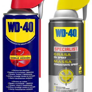 Wd-40 - pack 2 unidades, grasa doble acción 400 ml +  grasa en spray 400 ml