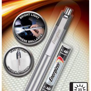 Linterna energizer led metal penlight, 2 pilas aaa incluidas, 35 lúmenes