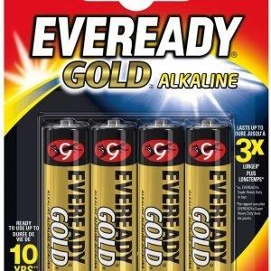 Eveready gold pilas alcalinas aa lr6, blister 4 unidades