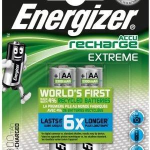 Energizer accu recharge extreme, pilas recargables aa, hr06, 2300 mah, blister 2 unidades