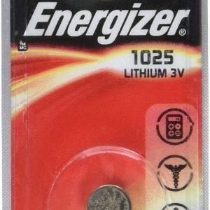 Pila energizer litio cr1025, 3 v.