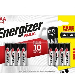 Energizer max power seal blister 4 + 4 pilas alcalinas aaa, lr03