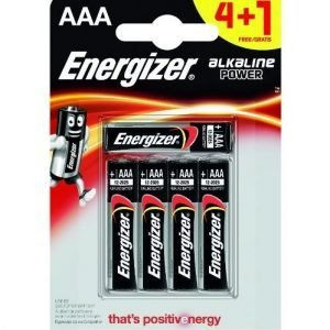 Energizer alkaline power, pack 5 unidades pilas alcalinas aaa, lr03