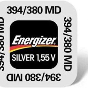 Energizer pila de botón 394/380 de óxido de plata para reloj y otros