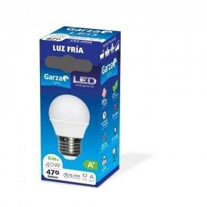 Garza lighting, bombilla led esférica e27, 5w, 220º, 400 lúmenes, 6500 k, luz fría