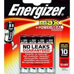 Energizer max power seal - pila lr03, aaa, blíster 4 unidades