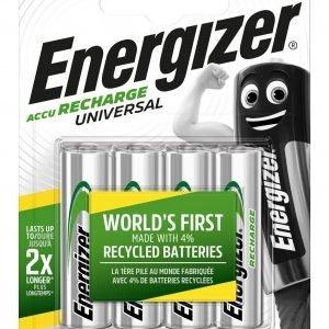 Pilas recargables energizer aa accu recharge universal