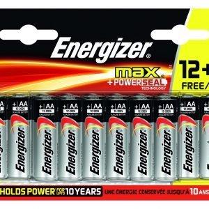 Pack de 16pilas alcalinas energizer max aa, lr6, 50% más de rendimiento