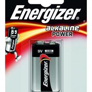 Energizer alkaline power, pila alcalina 9 v, 6lr61, 522