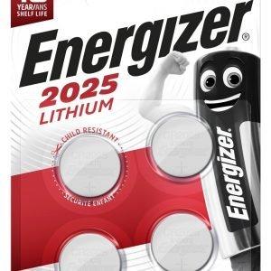 4 pilas de litio energizer lithium 2025, cr2025, 3 v