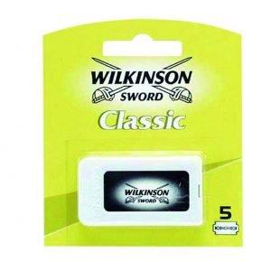 Wilkinson sword classic, cuchillas de afeitar doble filo, 5 unidades
