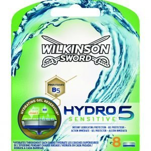 Wilkinson sword hydro 5 skin protection regular, cargador de 8 cuchillas de afeitar de 5 hojas para