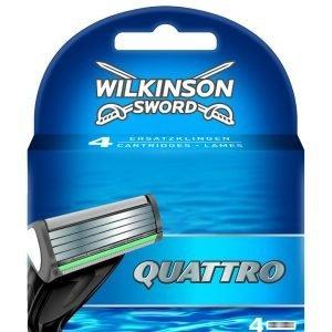 Wilkinson sword quattro, cargador de 4 cuchillas de afeitar masculinas de cuatro hojas