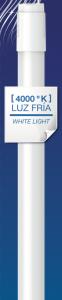 Tubo garza led, g13, 18w, 200º, 1600 lúmenes, longitud 1200 mm, luz neutra