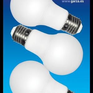 Bombilla led estándar 9w, casquillo e27 240º 810 lumenes, luz fría blister 2+1