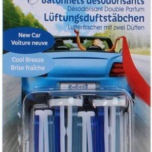 """Refresh your car, ambientador coche en varillas aromáticas con fragancia brisa, """"new car breeze"""""""
